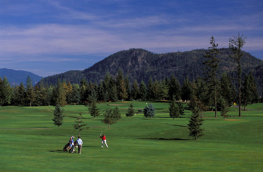 Golf Course, Sushwap Lake  Estates Golf Club, near Salmon Arm, British Columbia, Canada