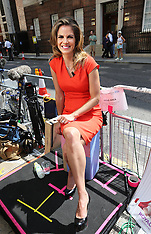 JULY 18 2013 Royal Baby Reporters waiting outside St Mary's hospital