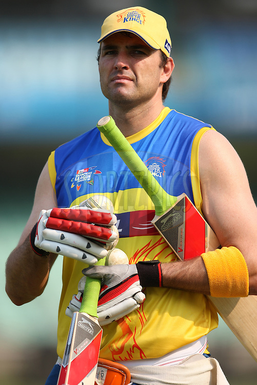 Justim Kemp during the Chennai Super Kings training session held at Kingsmead stadium in Durban on the 9th September during the build up to the Champions League T20 tournament being held in South Africa between the 10th and 26th September 2010..Photo by: Steve Haag/SPORTZPICS/CLT20