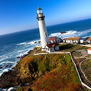 Pigeon Point Lighthouse Hostel, California Pacific Coast just south of San Francisco. Kite Aerial Photography by Branaman Photography