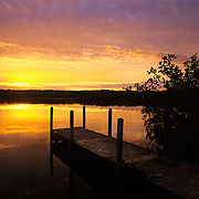 Sunrise at West Lake in Everglades National Park, FL.