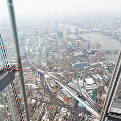 London, UK - 23 January 2013: the picture shows a view of London as seen from 'The View from the Shard'.  'The View from the Shard' opens to the general public on the 1st of February, offering an unrivalled view on the city of London.