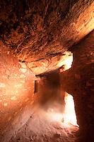 The interior of an Ancestral Puebloan ruin, Cedar Mesa, Utah.