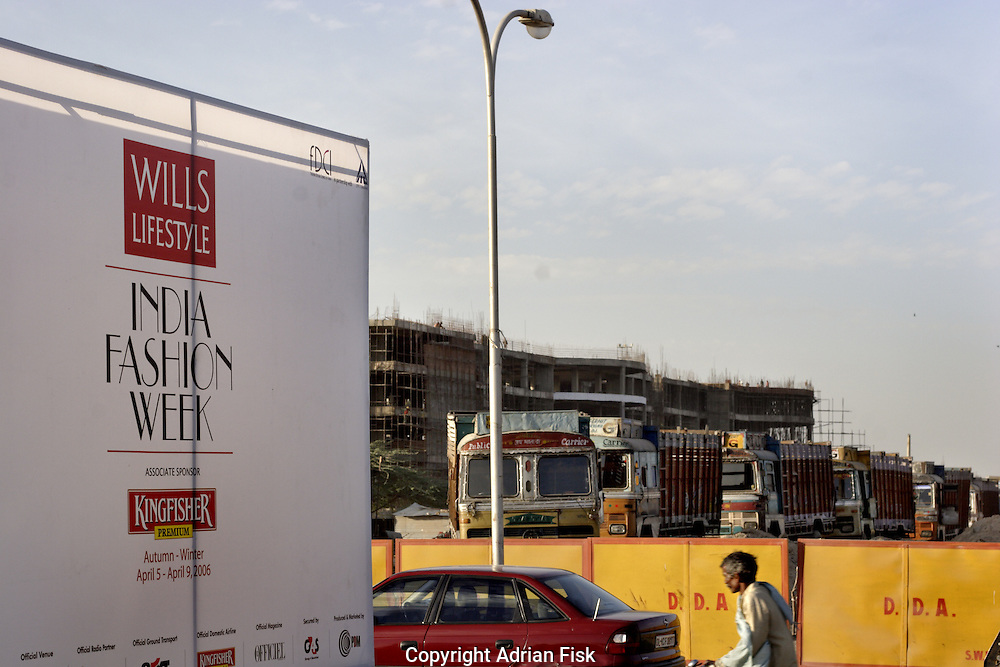 Next to the Grand Hotel where fashion week was held a huge shopping mall is being built - India fashion week, Autumn - winter collections, New Delhi, April 2006