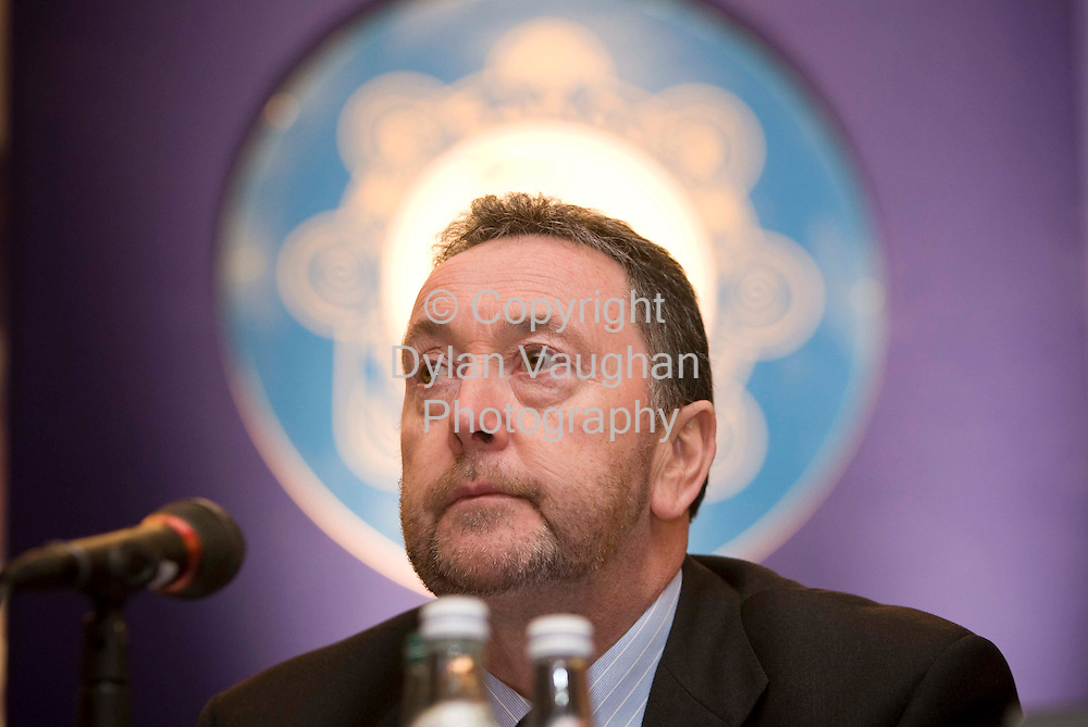 29/4/2008.Pictured at the Garda Representative Association 30th annual delegate conference at the Mount Wolseley Hotel in Tullow county Carlow was GRA General Secretary, PJ Stone..Picture Dylan Vaughan