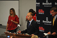 Kyle Campbell opens up at a press conference at the IPF at the University of Mississippi in Oxford, Miss. on Monday, November 7, 2011. .