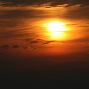 Firey sunrise/sunset on Jekyll Island Georgia.