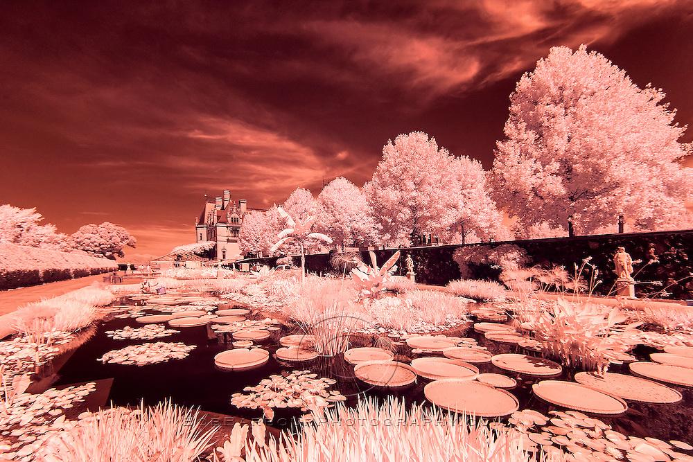 Infrared photo of Biltmore Hotel, Asheville, North Carolina