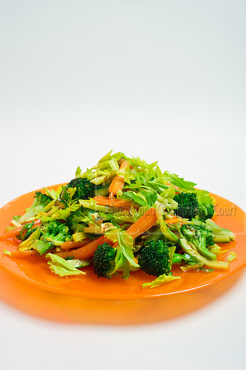 Autumn Vegetable Salad with Orange, Cumin and Mint Vinaigrette. By Ruth Pretty.
