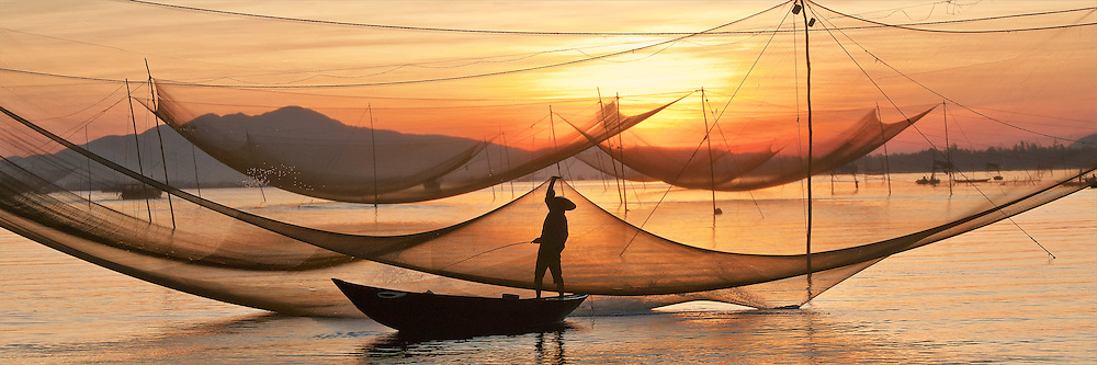 Image result for fishing net sunrise