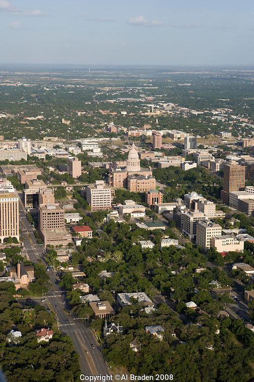Austin Aerial Skyline of Capitol District