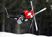 USA's Joseph Discoe practices for the men's qualifying event at the World Cup freestyle moguls competition at  Deer Valley Resort, Saturday, Jan. 16, 2010, in Park City, Utah. (AP Photo/Colin E Braley).