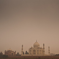 Rear view of the Taj Mahal