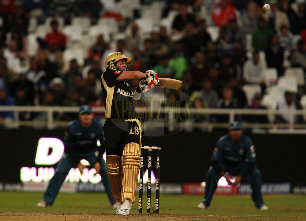 CAPE TOWN, SOUTH AFRICA - 19 April 2009. Brad Hodge during the  IPL Season 2 match between the Deccan Chargers and the  Kolkata knight Riders held at Sahara Park Newlands in Cape Town, South Africa..
