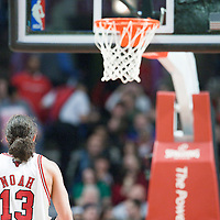 21 December 2009: Chicago Bulls center Joakim Noah is seen at the free throw line during the Sacramento Kings 102-98 victory over the Chicago Bulls at the United Center, in Chicago, Illinois, USA.