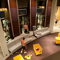 State of the art locker room is funded by Nike founder Phil Knight, an alumn of the University of Oregon