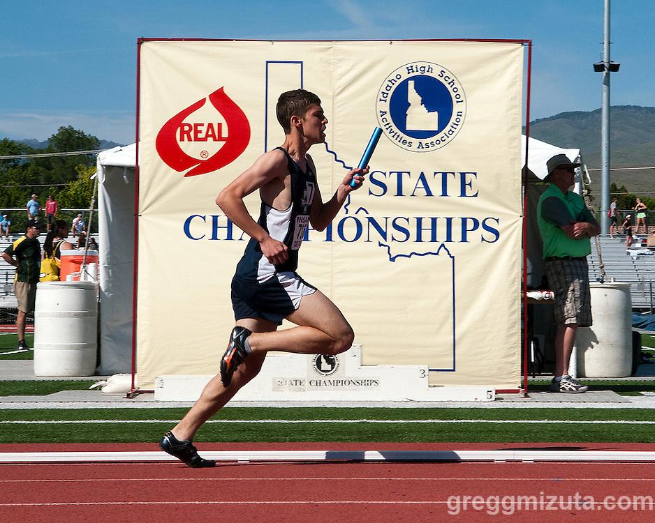 Idaho 4A/5A State Track & Field Championships at Dona Larsen Park, Boise, Idaho on May 17, 2014