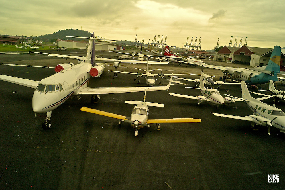 Aerial views of Gelabert Domestic Airport. Albrook. Panama.
