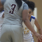 Caesar Rodney Kylie Kornegay (15) sets up on defense during a Diamond State Classic game Wed. Dec. 28, 2016 at Saint Elizabeth's High School in Wilmington.