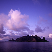 Dawn at the Island of Trindade in the south atlantic ocean.