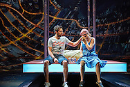 Ugly Lies the Bone by Lindsey Ferrentino at the National Theatre. Director Indhu Rubasingham<br /> <br /> Kate Fleetwood<br /> Ralf Little<br /> Olivia Darnley<br /> Kris Marshall<br /> Buffy Davis