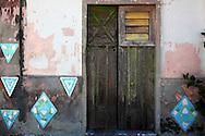 Wall and door in Campechuela, Granma, Cuba.