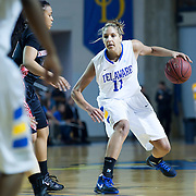 Delaware Forward Elena Delle Donne (11) step back to attempt a long range shot in first half of an NCAA college basketball game against Northeastern Sunday, Feb. 26, 2012 at the Bob Carpenter Center in Newark, Del...Delaware would go on to win 89-71.
