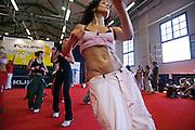 Italy, Florence, Fortezza da Basso, Fitfestival, gym dance lesson