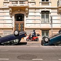 Geneve, les Suisses se mettent sur le toit.