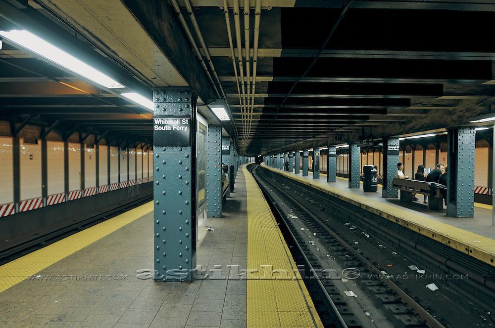 New York City subway station, NYC, USA