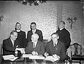 1957 Signing Agreement re. Pilgrimage to Lourdes