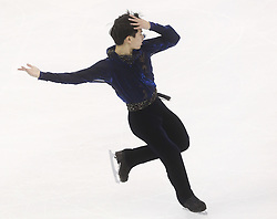 Denis Ten of Kazakhstan performs during the Men free skating program at the ISU World Figure Skating Championships at Shanghai Oriental Sports Center in Shanghai, China, 28 March 2015.