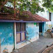 Street in Nagore. South India.
