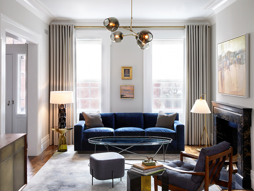 Brooklyn Heights Town House. Living Room. Architect: CWB Architects. Designer: CWB Architects