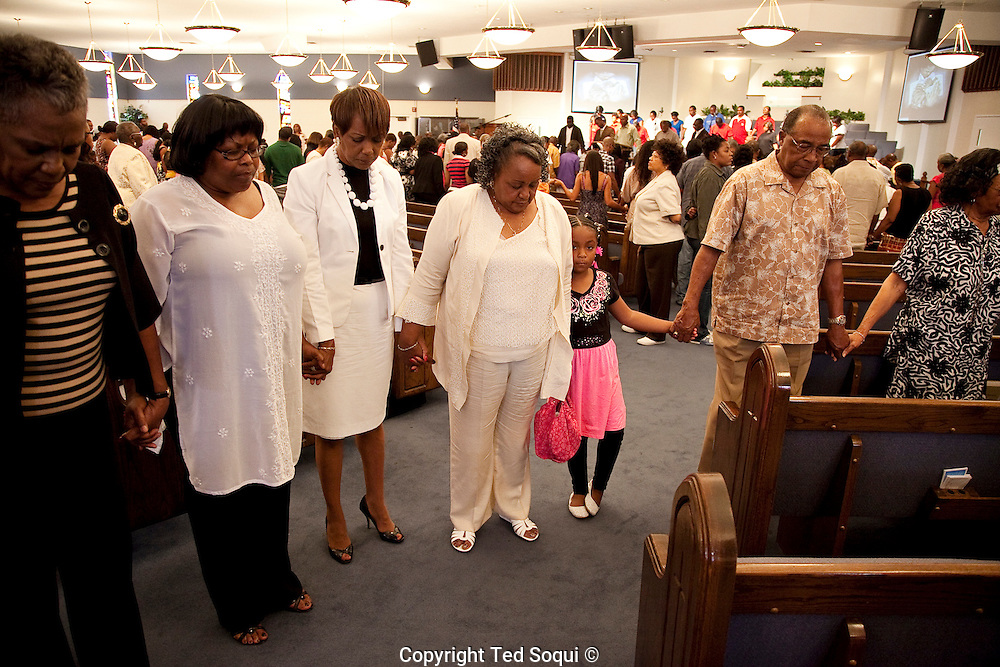 Diana Ware, mother of Barbara Ware, at the St. Stephen Missionary Baptist Church services.