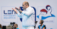 LEN European Water Polo Championships 2016<br /> Russia RUS (White) Vs Germany GER (Blue)<br /> Men<br /> Referee Gyorgy KUN HUN<br /> Kombank Arena, Belgrade, Serbia <br /> Day08  17-01-2016<br /> Photo P. Mesiano/Insidefoto/Deepbluemedia