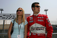 Sam and Crystal Hornish at the Twin Ring Motegi, Japan Indy 300, April 30, 2005