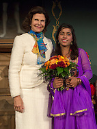 Kailash Satyarthi, India, was commended by the World&rsquo;s Children&rsquo;s Prize 2015 for his dangerous struggle against child labour and slavery, and for all children&rsquo;s right to education. His award was presented to a Payal Jangid, a young beneficiary of Mr. Satyarthis work, during the World&rsquo;s Children&rsquo;s Prize Ceremony 2015, at Gripsholms Castle in Mariefred, by H.R.M. Queen Silvia of Sweden and the World&rsquo; Children&rsquo;s Prize Child Jury. Photo: Sofia Marcetic/World's Children's Prize<br /> <br /> Since the year 2000, the World&rsquo;s Children&rsquo;s Prize program has educated and empowered over 38 million children. It&rsquo;s the world&rsquo;s largest annual educational initiative for equality, the rights of the child and democracy. The program is run annually in schools worldwide. Each year, three out&not;standing child rights heroes are selected by the Child Jury as candidates for the World&rsquo;s Children&rsquo;s Prize for the Rights of the Child.  The three candidates are then presented to the world&rsquo;s children through  the WCP magazine The Globe, video, web and social media. Tens of thousands of volunteers and organisations help to implement the WCP program every year, including at least 50,000 teachers and over a hundred organisations, social enterprises and departments of education. Over 67,000 schools in 113 countries have signed up for the WCP.<br />     The WCP program concludes with an annual Global Vote in which millions of children vote to elect their child rights hero of the Year. The majority of children who participate are vulnerable, such as former child soldiers and child slaves. Three global legends have got behind the WCP as patrons: Nelson Mandela, Aung San Suu Kyi, and Xanana Gusm&atilde;o. Other patrons include H.M. Queen Silvia of Sweden, Gra&ccedil;a Machel and Desmond Tutu.<br />    The WCP program was founded in the year 2000 and is run by Swedish non-profit the World&rsquo;s Children&rsquo;s Prize Foundation (WCPF). The WCPF receives funding from several bodies including the Swedish Postcode Lottery,