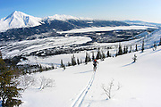 Alaska , Brooks Range. Iniakuk Lake Lodge. Backcountry Skiing.
