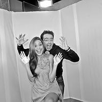 Spanish photographer KIKE CALVO with Nadege Herrera (Miss Panama 2009).