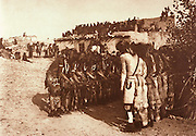 NATIVE AMERICANS E. Curtis photograph, early 20th century, Antelopes and Snakes at Oraibi (Hopi Dancers)