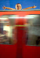 London Underground Train and Advertisment - 2007