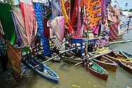 Decorated boats at the Maulid Nabi festival, Cikoang, Sulawesi, Indonesia.