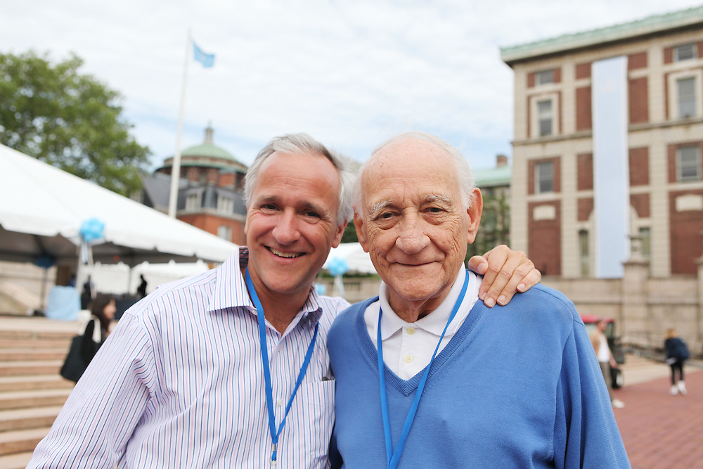 John Gruendel '83 (left).Hugo Gruendel '47