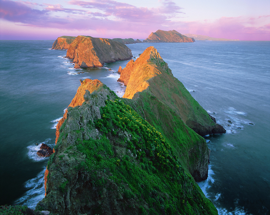 0603-2014LVT ~ Copyright: George H. H. Huey  ~ Anacapa Island at sunrise from Inspiration Point. Channel Islands National Park, California.