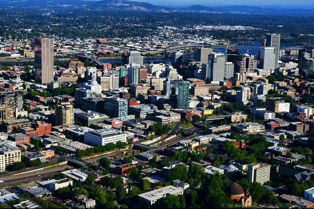 Western View of Portland Skyline