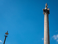 Greenpeace activists place gas mask on Nelson's Column in Trafalgar Square to hilight pollution protest, London, Britain - 19 Apr 2016<br /> <br /> SME