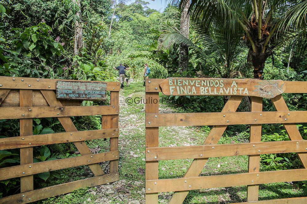 Main entrance and gate of access of Finca Bellavista