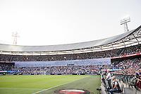 ROTTERDAM - Feyenoord - Valencia , Eredivisie, Voetbal, Seizoen 2016-2017, Feyenoord stadion de Kuip23-07-2016 , Spandoek voor alle ex-feyenoorders en supporters die het afgelopen jaar zijn overleden. traditioneel een minuut stilte