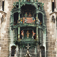 Europe, Germany, Munich. Rathaus-Glockenspiel of the New Town Hall in Munich.
